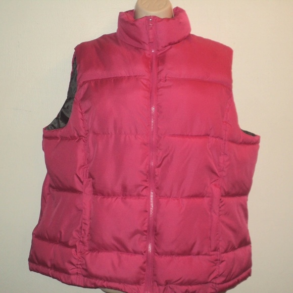 Avenue Jackets & Blazers - Avenue Size Plus 18/20 Puffer Vest Pink Zippered